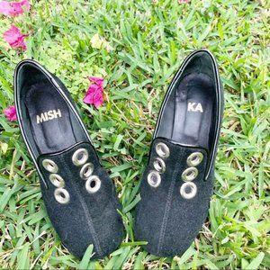 LAST CHANCE Black Suede Block Heels